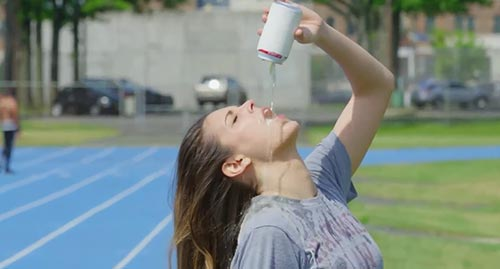 Katie Nolan runs the beer mile