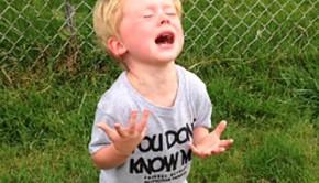 kid steps in dog poop