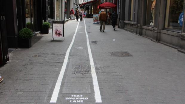 texting lane belgium